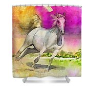 Horse Paintings 007 Shower Curtain