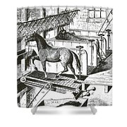 Horse Powered Stall Cleaner, 1880 Shower Curtain