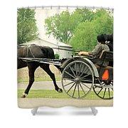 Horse Powered Transportation Shower Curtain