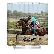 Horse Race Shower Curtain