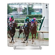 Horse Races At Churchill Downs Shower Curtain