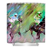 Horse Racing 04 Shower Curtain