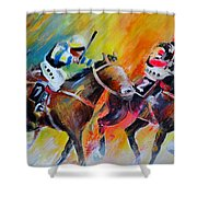 Horse Racing 05 Shower Curtain