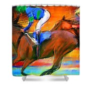 Horse Racing II Shower Curtain