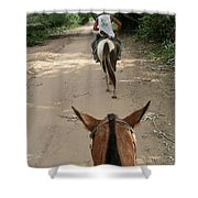 Horse Riding Shower Curtain