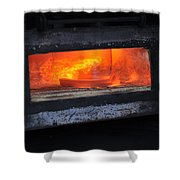 Horse Shoes On Fire Shower Curtain