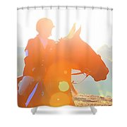 Horse Show Flares Shower Curtain