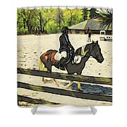 Horse Showing Shower Curtain