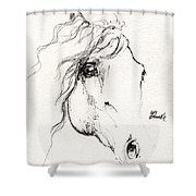 Horse Sketch 2014 05 24a Shower Curtain
