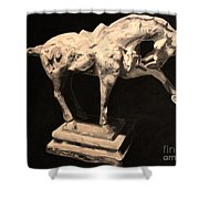 Horse Statuette Shower Curtain
