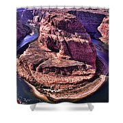 Horsehoe Bend On The Colorado River Shower Curtain