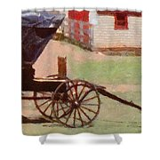 Horseless Carriage Shower Curtain by Jeff Kolker