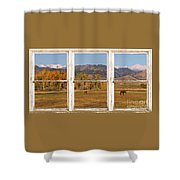 Horses And Autumn Colorado Front Range Picture Window View Shower Curtain by James BO  Insogna