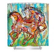 Horses At Play II Shower Curtain