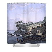 Horses Crossing A River, 1812-13 Shower Curtain
