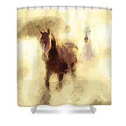 Horses Of The Mist Shower Curtain
