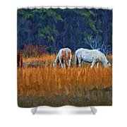 Horses On The March Shower Curtain