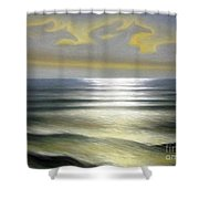 Horses Over Sea Shower Curtain