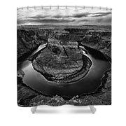 Horseshoe Bend Arizona Monochrome Shower Curtain