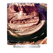 Horseshoe Bend Boat Race - Page Arizona Shower Curtain
