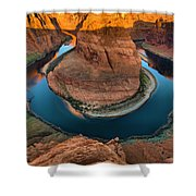Horseshoe Bend In The Morning Shower Curtain