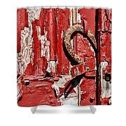 Horseshoe Door Handle Shower Curtain by Paul Ward