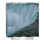 Horseshoe Falls Ice Formations Shower Curtain