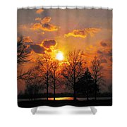 Horseshoe Lake In March Shower Curtain
