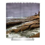 Horseshoes Beach Shower Curtain