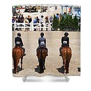 Horseshow Pano Shower Curtain