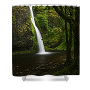Horsetail Falls Columbia River Gorge Shower Curtain