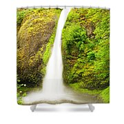 Horsetail Falls In The Spring Shower Curtain