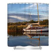 Horsey Mere In Evening Light Shower Curtain