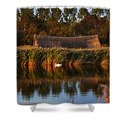 Horsey Mere On The Norfolk Broads On A Still Day In Autumn Shower Curtain