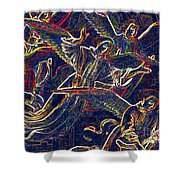Host Of Angels By Jrr Shower Curtain