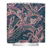Host Of Angels Pink Shower Curtain