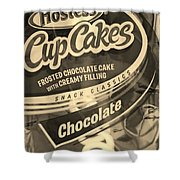 Hostess Cupcakes In Sepia Shower Curtain