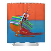 Hot Afternoon Shower Curtain
