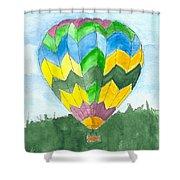 Hot Air Balloon 01 Shower Curtain