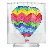 Hot Air Balloon 02 Shower Curtain