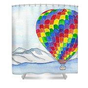 Hot Air Balloon 04 Shower Curtain