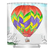 Hot Air Balloon 10 Shower Curtain