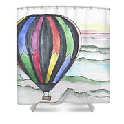 Hot Air Balloon 12 Shower Curtain