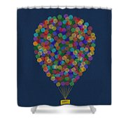 Hot Air Balloon Shower Curtain by Aged Pixel