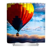 Hot Air Balloon And Powered Parachute Shower Curtain by Bob Orsillo