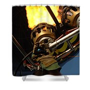 Hot Air Balloon Burner Shower Curtain