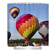 Hot Air Balloon Festival In Decatur Alabama  Shower Curtain