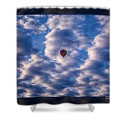 Hot Air Balloon In A Cloudy Sky Abstract Photograph Shower Curtain