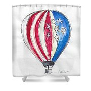 Hot Air Balloon Misc 01 Shower Curtain