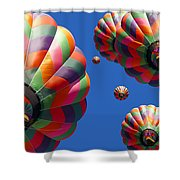Hot Air Balloon Panoramic Shower Curtain by Edward Fielding